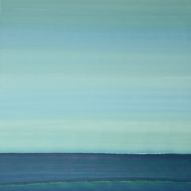 Horizont Hellgrün-Blau