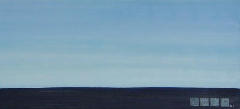 Horizont Hellblau-Blau