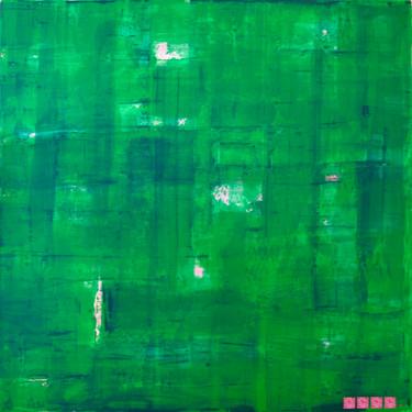 geschichtet Smaragdgrün-Pink