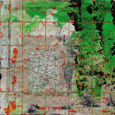 farbgeschichtet Landkarte Frauenfeld-Wil