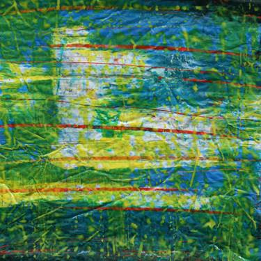 farbgeschichtet Blau-Gelb II