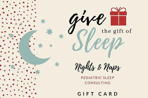Single Phone Sleep Consultation Gift Card