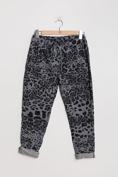 Eläinprintti housut Gray
