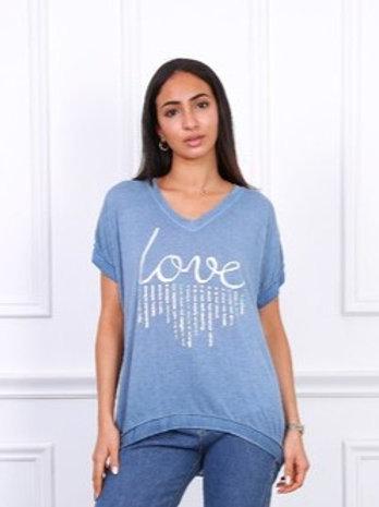 T-paita Blue Love
