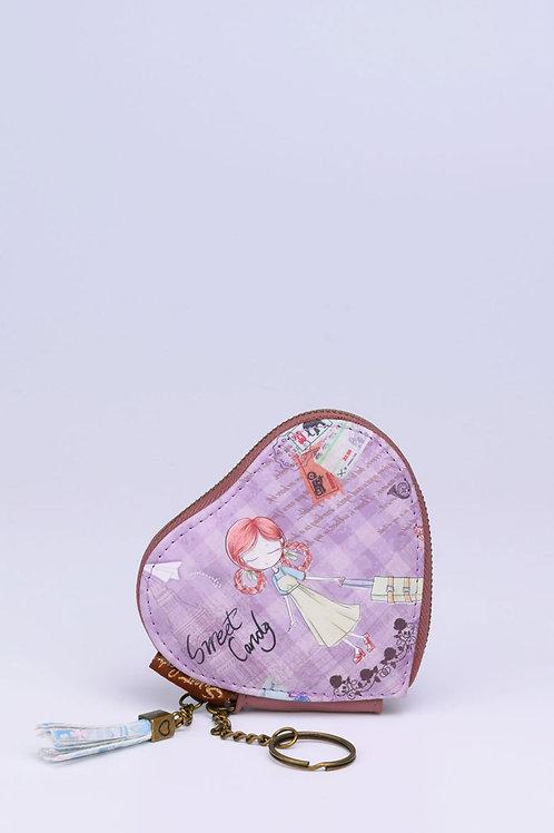 Sweet & Candy sydänkukkaro Lila