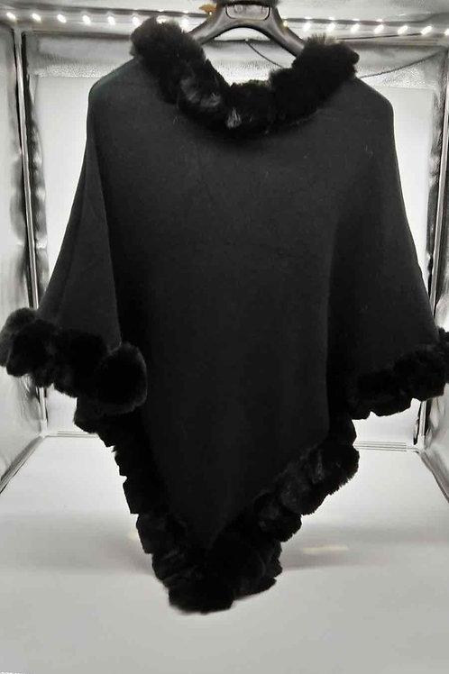 Poncho Winter Black