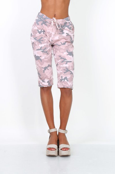 Camo print shorts Pink