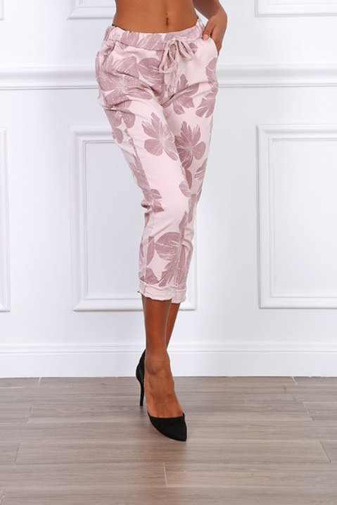 Flower pants Rose