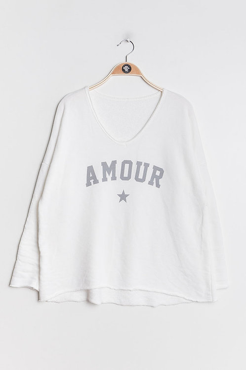 Sweater Amour White