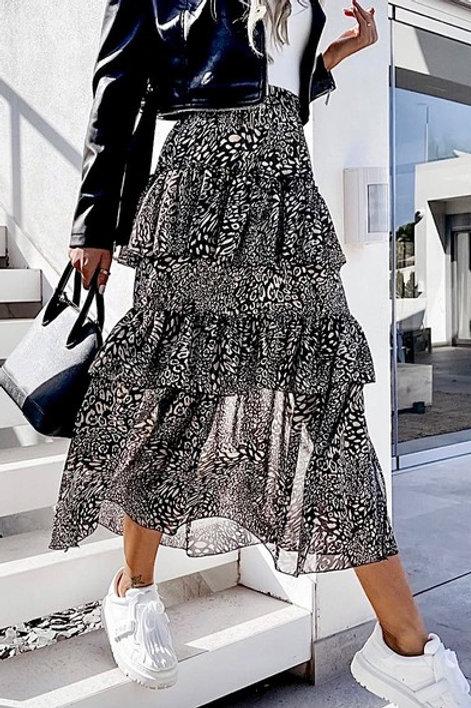 Elle ruffle skirt Black& White