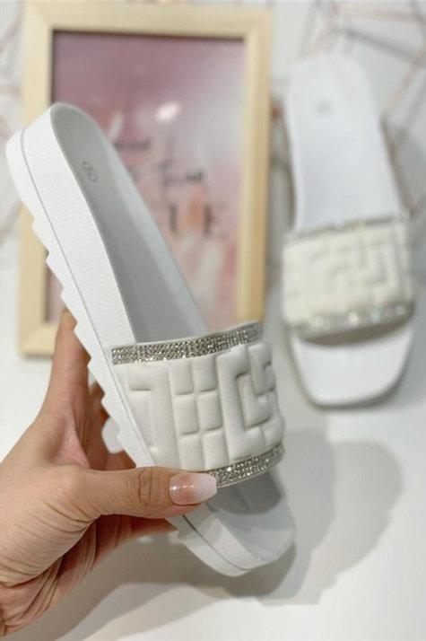 Bling sandaalit White