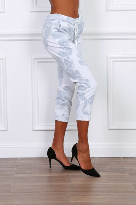 Flower pants White