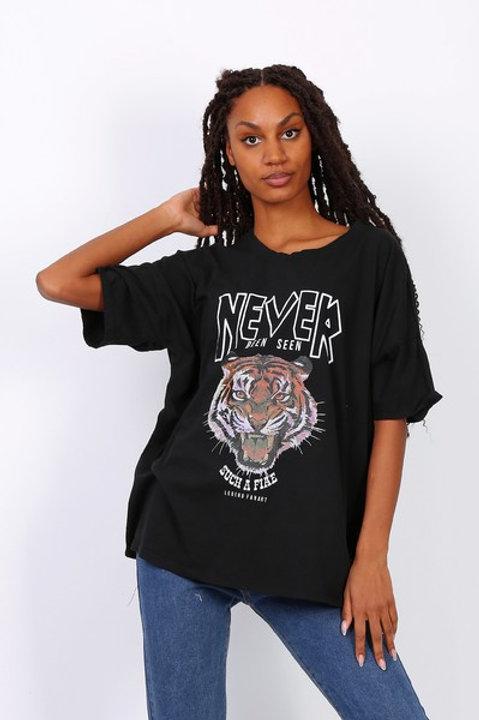 T-paita Tiger Black