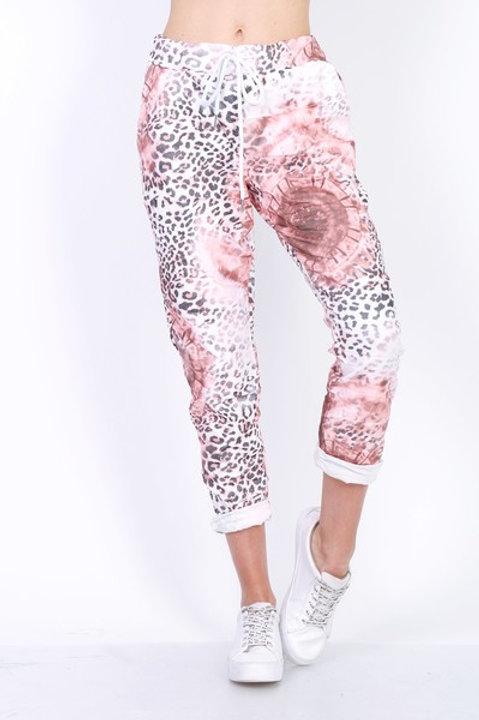 Leopard Print pants Rose