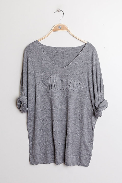 Sweater with message Gray