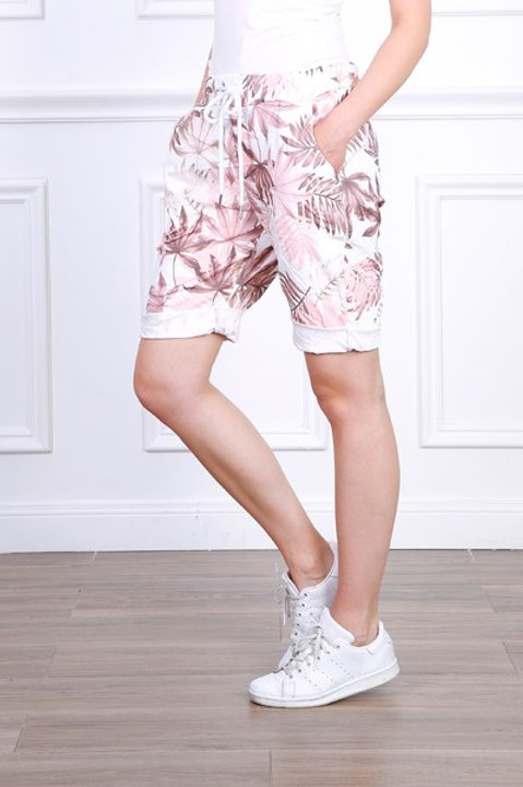 Tropical print shorts Pink