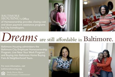 Baltimore Homeownership Ad; Design & Photography