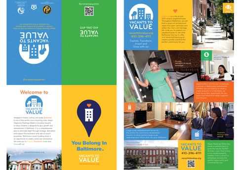 Vacants to Value Quad-Fold Brochure Poster; Design & Photography