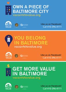 Vacants to Value Billboard; Design