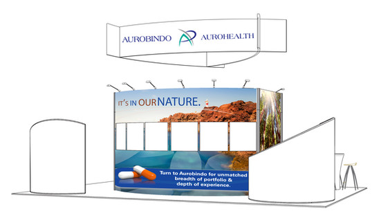 Pharma Expo Booth; Design & Photo Illustration