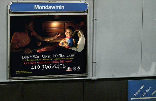 City Energy PSA Transit Ad; Design & Photography