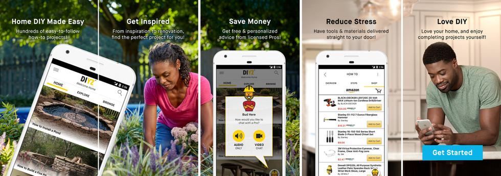DIYZ App & Marketing; Design & Photography Direction