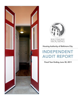 City Audit Report Cover; Design & Photography