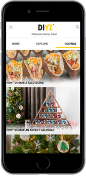 DIYZ App & Marketing; Design & Photography Direction