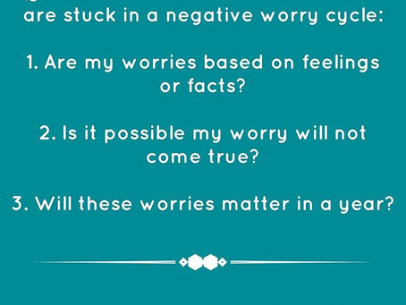 Breaking the worry cycle