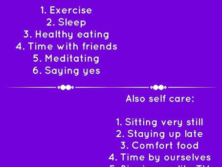 (Non judgy) Self Care!