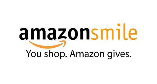 """Logo for Amazon Smile that states """"Amazon Smile: Yo shop. Amazon gives."""""""