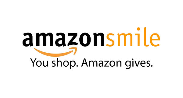 "Logo for Amazon Smile that states ""Amazon Smile: Yo shop. Amazon gives."""