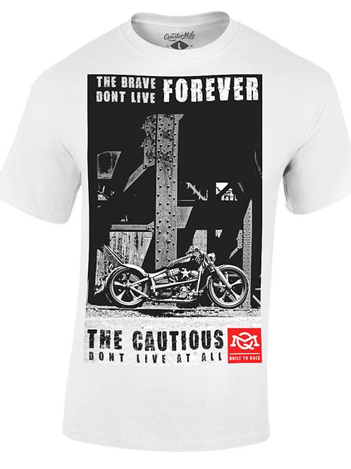 Quarter Mile t-shirt manches courtes blanc Cautious graphic
