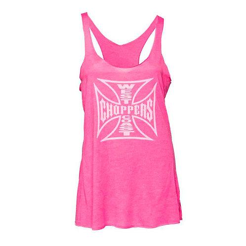 T-Shirt Lady OG Cross Racerback Pink