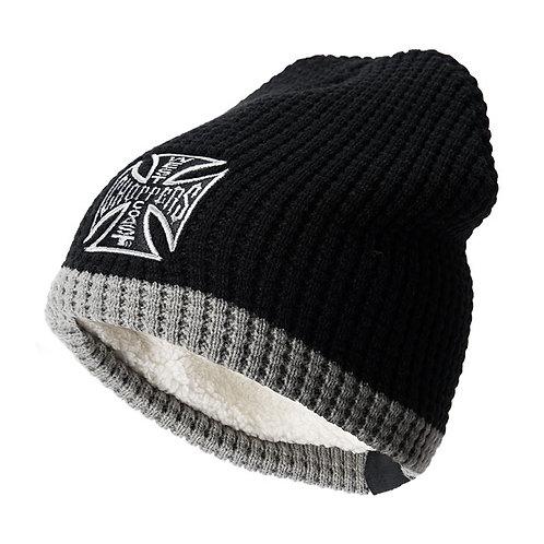 Bonnet WCC Knitted Cross Black/Grey