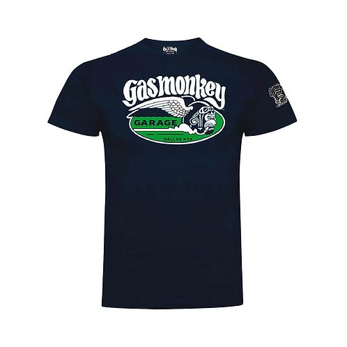 Gas Monkey t-shirt manches courtes navy logo blanc verts GMG CIGAR MONKEY