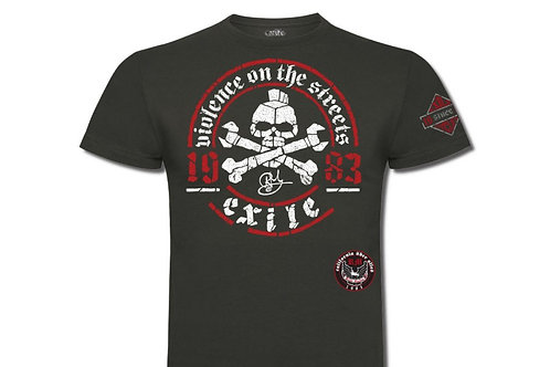 Exile Cycles t-shirt manches courtes kaki Violence on the Streets Signature