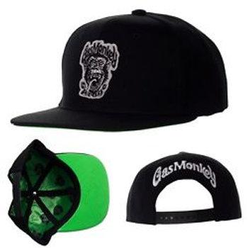 Gas Monkey casquette noir visière vert Snapback Black Cap GMG 'GREEN MONKEY'