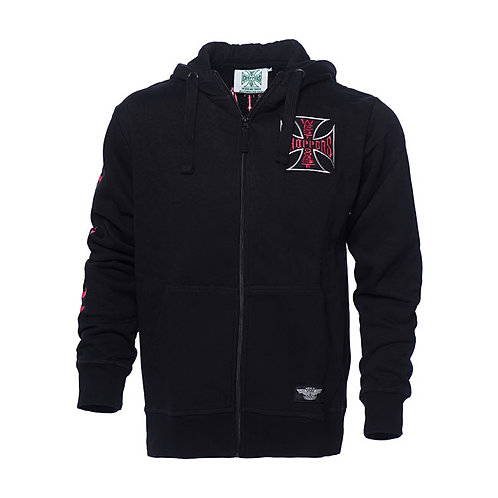 Hoodie WCC Zip-Up Chief Black
