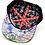 Thumbnail: Exile Cycles casquette noir impression sous visière RM Two Fingers Snapbac