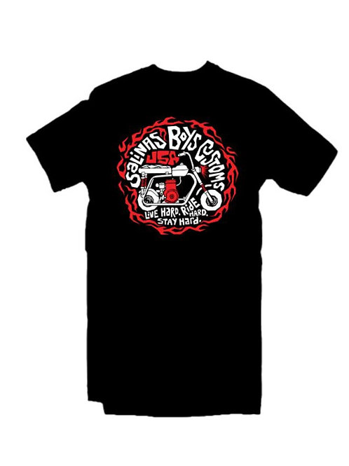 Salinas Boys t-shirt manches courtes noir LIVE HARD RIDE HARD STAY HARD