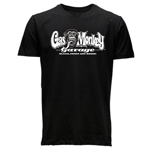 Gas Monkey t-shirt manches courtes noir logo blanc GMG OG logo black
