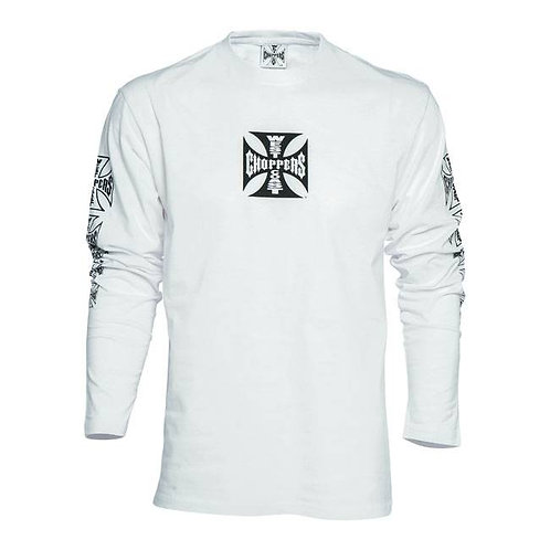 T-Shirt Long Sleeve WCC Maltese Cross White