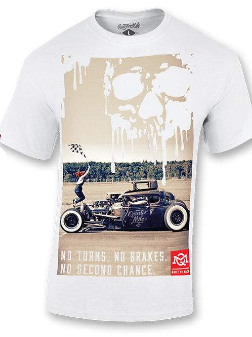 Quarter Mile t-shirt manches courtes blanc No Second Chance Graphic T-Shirt