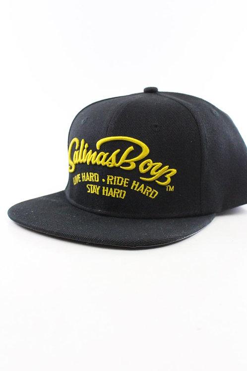 Salinas Boys casquette noir impression sous visière black/yellow