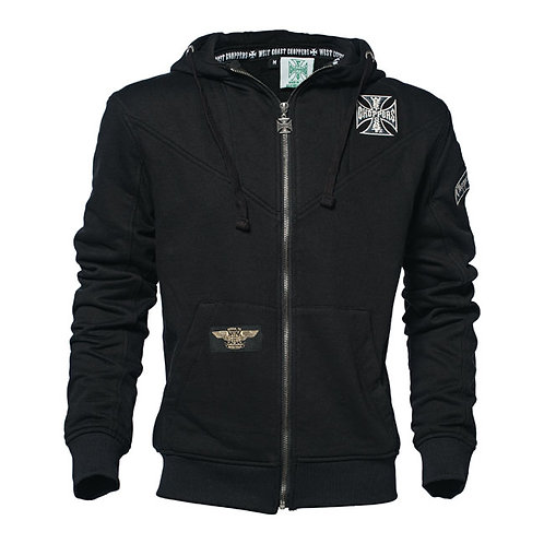 Hoodie WCC Zip-Up Cross Panel