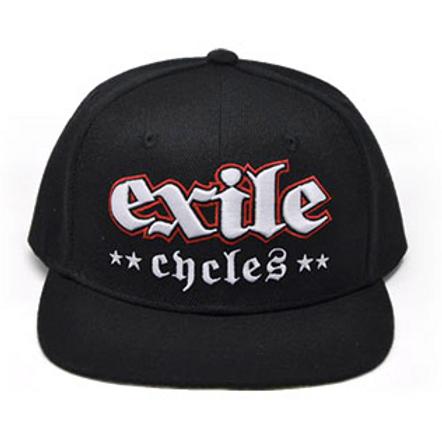 Exile Cycles casquette noir impression sous visière RM Two Fingers Snapbac