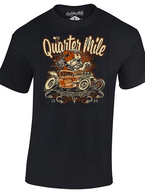 Quarter Mile t-shirt manches courtes noir Mutts Nuts Bulldog