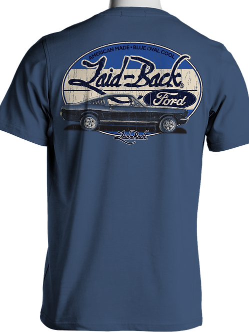 Laid Back USA t-shirt manches courtes Ink Halfway mustang blue