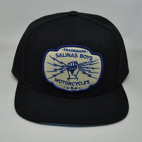 Salinas Boys casquette noir impression sous visière Snapback logo TRADEMARK